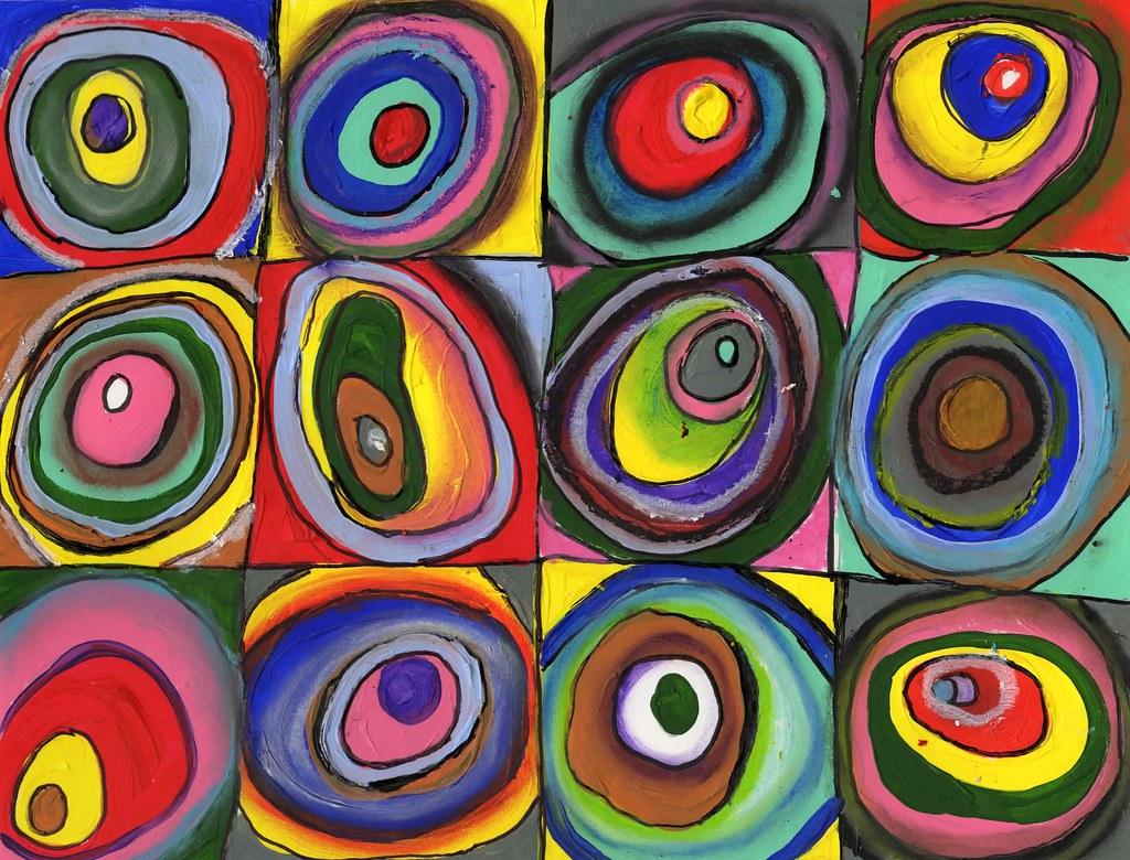 Draw365 14 2 Julia Forsyth Kandinsky Concentric Circle