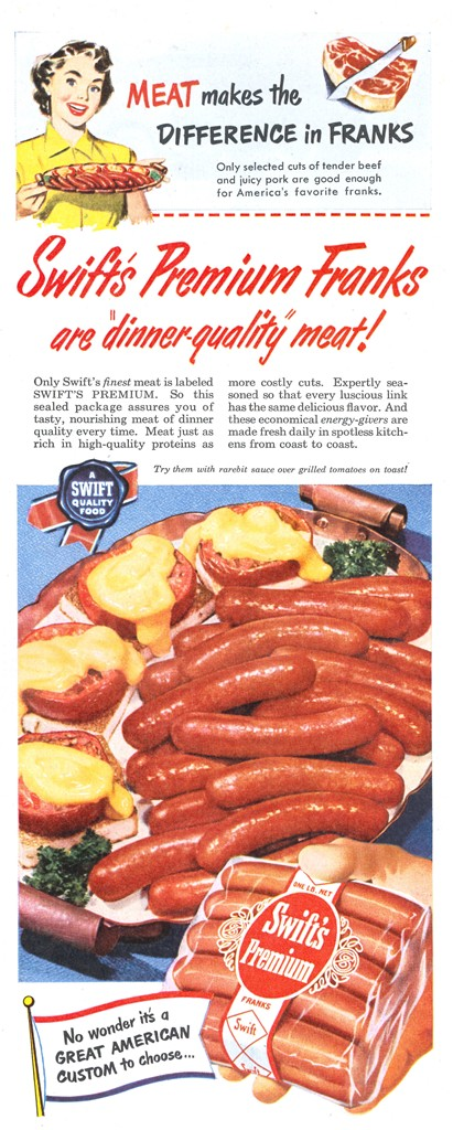 Swift's Premium Franks - published in Look - August 15, 1950