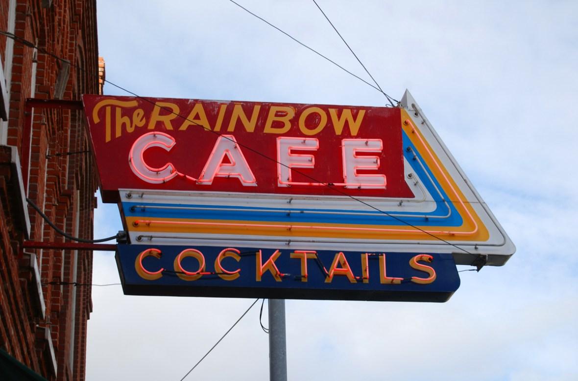 The Rainbow Cafe - 209 South Main Street, Pendleton, Oregon U.S.A. - January 27, 2013