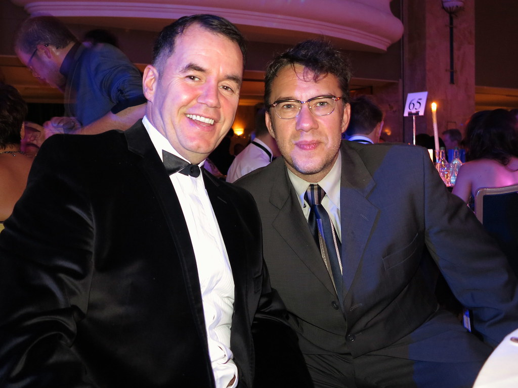 Terry George With Mark Lamarr IMG6003 Terry George With