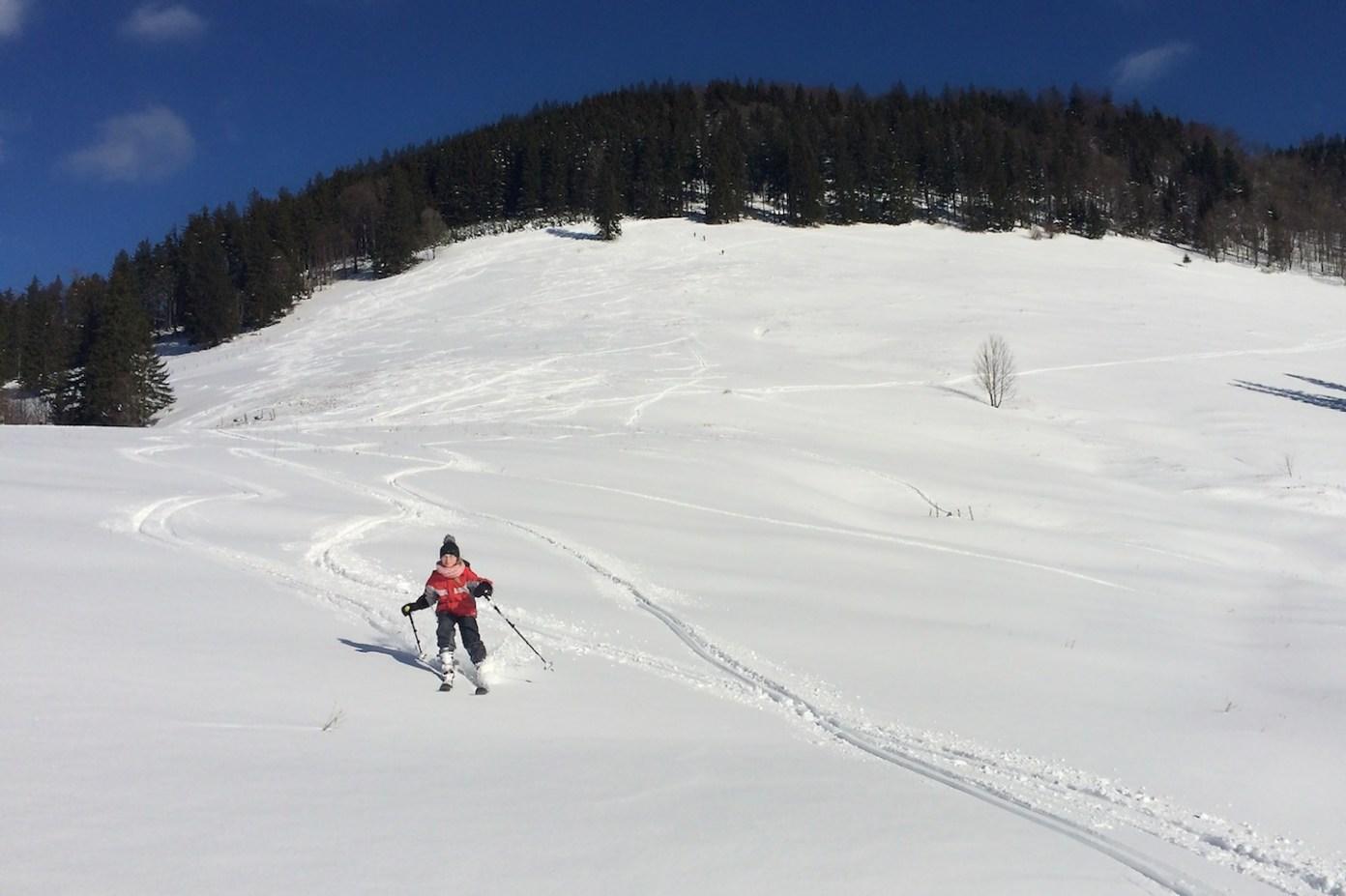 Madla lyžuje prvně v backcountry
