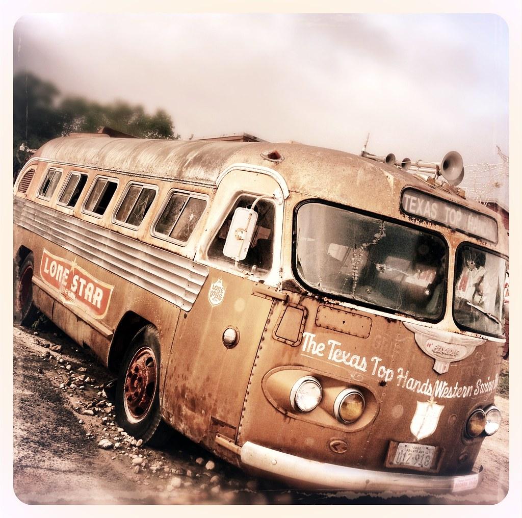 Bus Vintage Broken Spoke Honky Tonk Austin Texas Lone Star