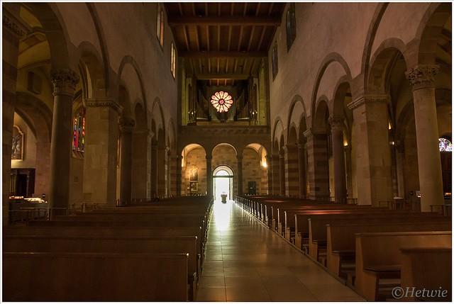 Sint Willibrord kerk in Echternach. Waar de crypte van Sint Willibrord is.