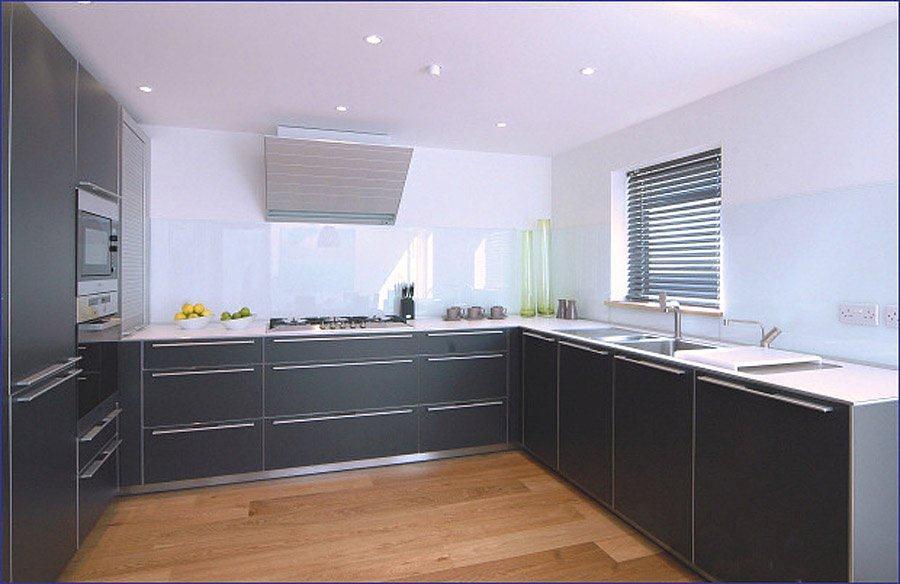 Kitchen With Opticolour White Glass Splashbacks Kitchen