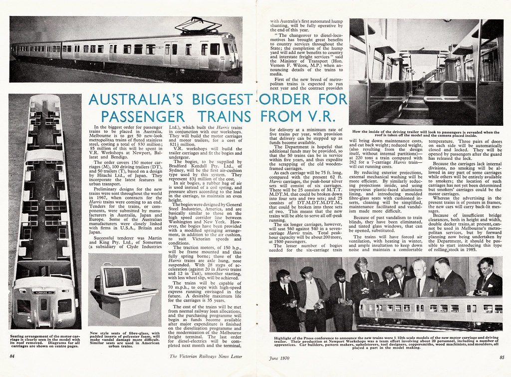 Hitachi Trains Article Victorian Railways News Letter