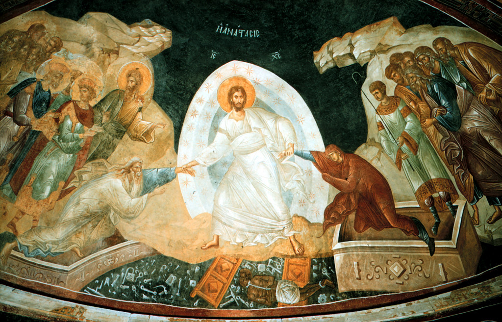 Anastasis Harrowing Of Hell In The Apse Of The Chora Chu