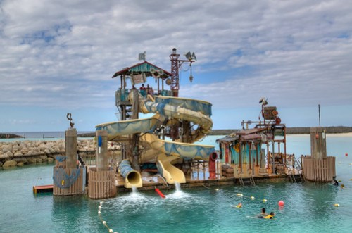 Waterslide at Castaway Cay