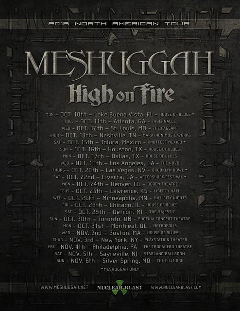 Meshuggah at Fillmore Silver Spring
