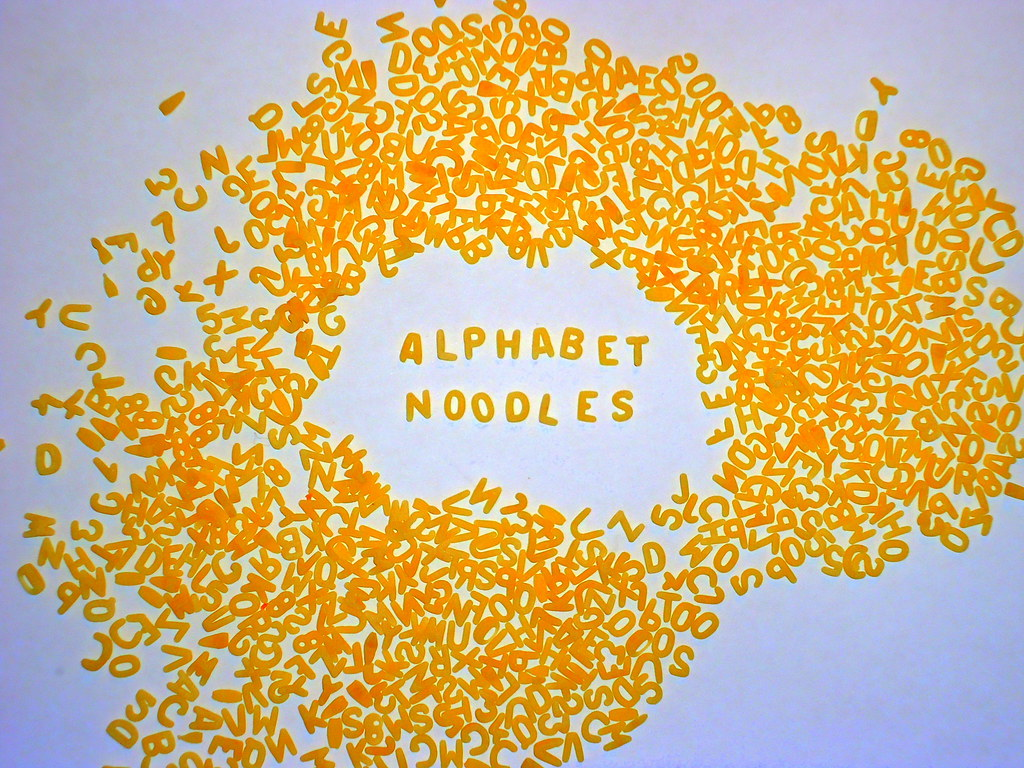 2232013 Alphabet Noodles Alphabet Noodle Soup Make Up