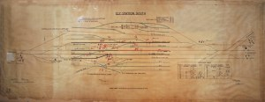 Ely Station South LNER | Signalbox diagram from Ely