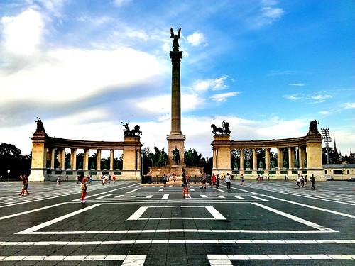 Patrimonio de la Humanidad en Europa y América del Norte. Hungría. Avenida Andrassy en Budapest.