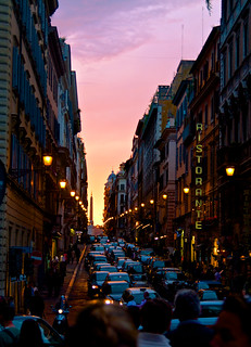 Sunset On The Streets Of Rome Saw This Pleasant Little