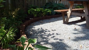 Patio Edging Crushed Stone Topiarius Urban Garden