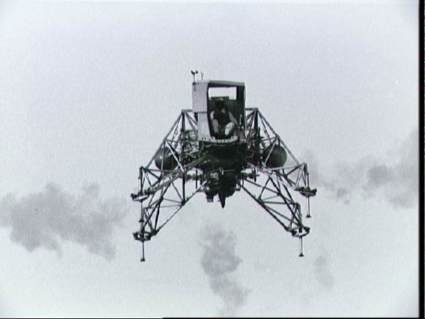 Lunar Landing Training vehicle piloted by Neil Armstrong d ...