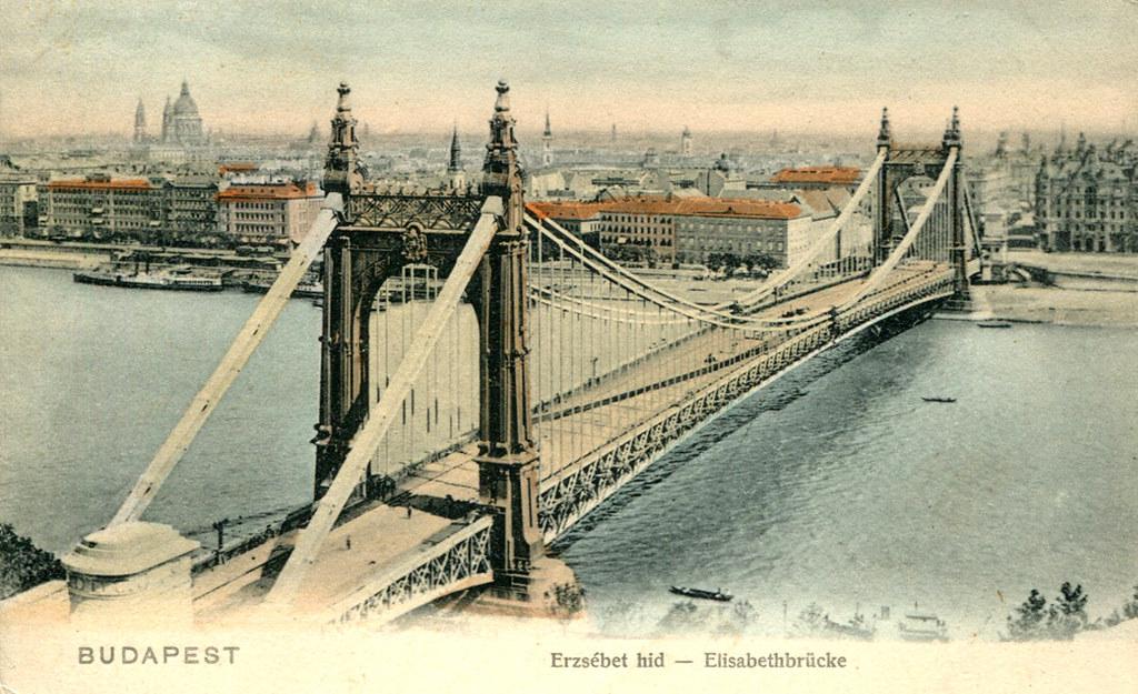 Budapest Elizabeth Bridge 1913 Postcard A 1913