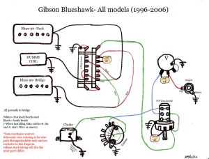 blueshawk wiring diagram schematic gibson color | gibson