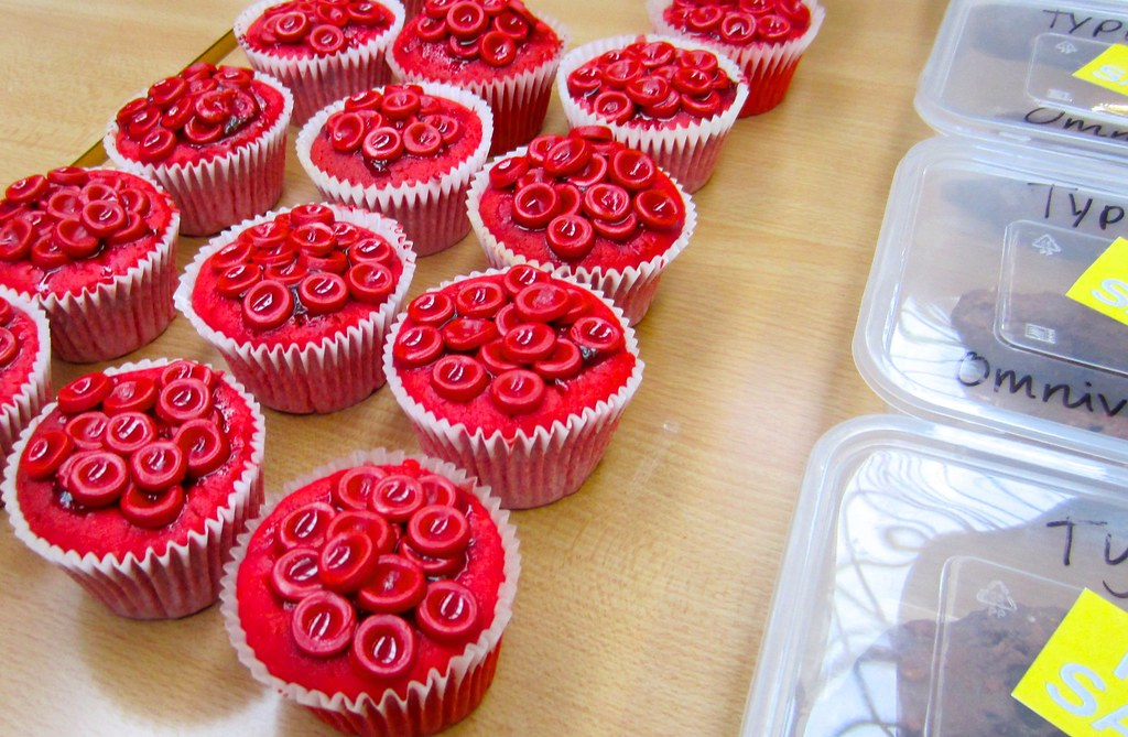 Blood Cell And Poo Cakes From Eat Your Heart Out At St