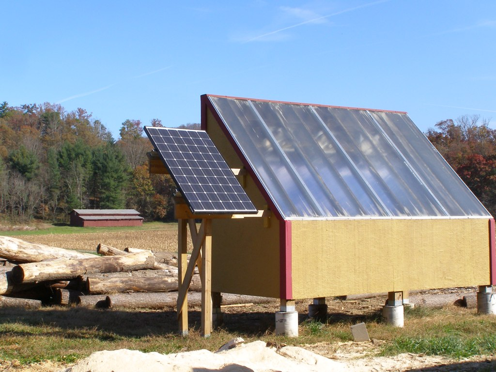 Solar Lumber Kiln For Drying The Fresh Cut Plank Lumber
