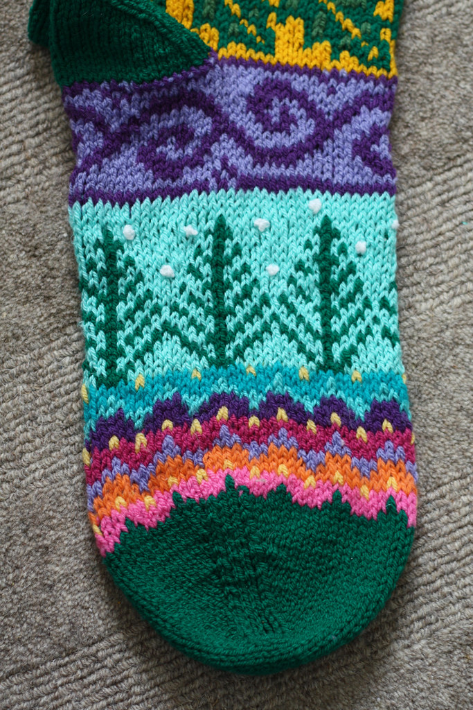 Knitted Christmas Stocking Pattern Spindleknitters