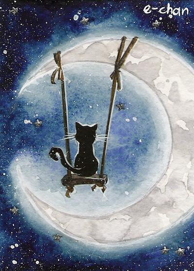 MoonDwellerbyAmedamaCherry Cats MysticViolet Flickr