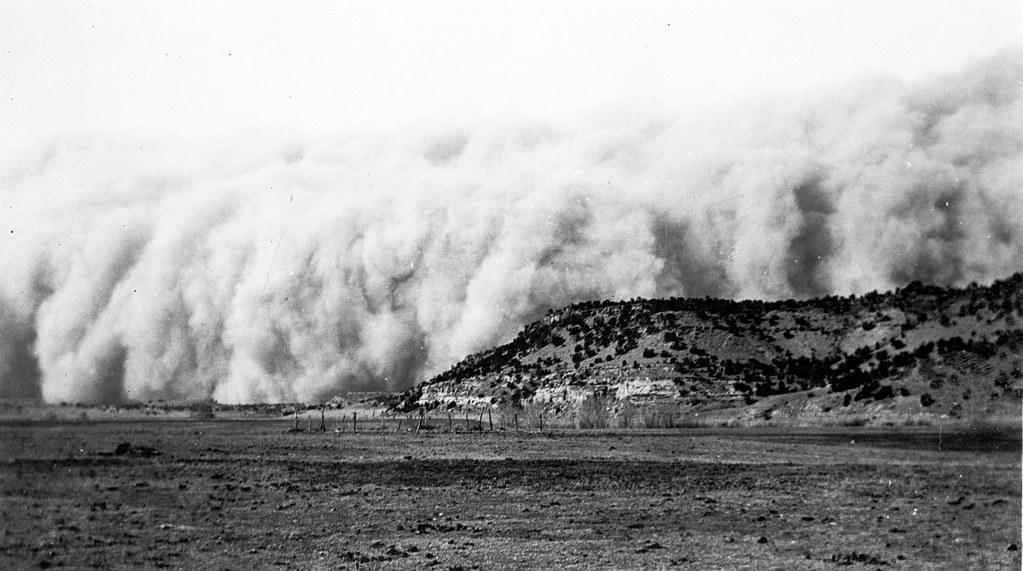 Ward, J. H, photographer. Baca County, Colorado. April 14, 1935. Dust storm. Colorado. Apr, 1935.
