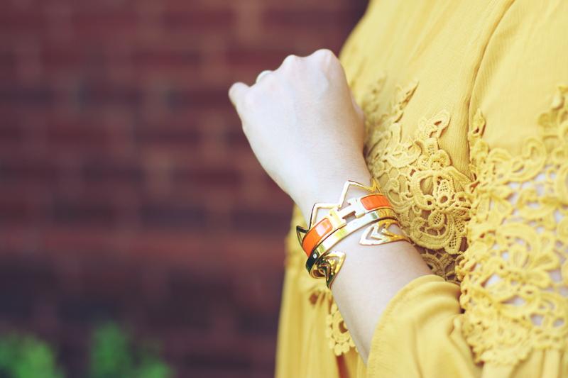 Versona-lace-dress-hermes-bangle-bracelets-7