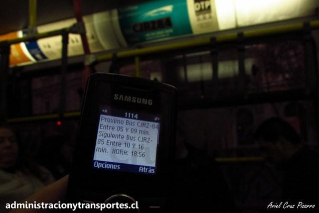 Transantiago SMS Bus | 385 CJRZ84