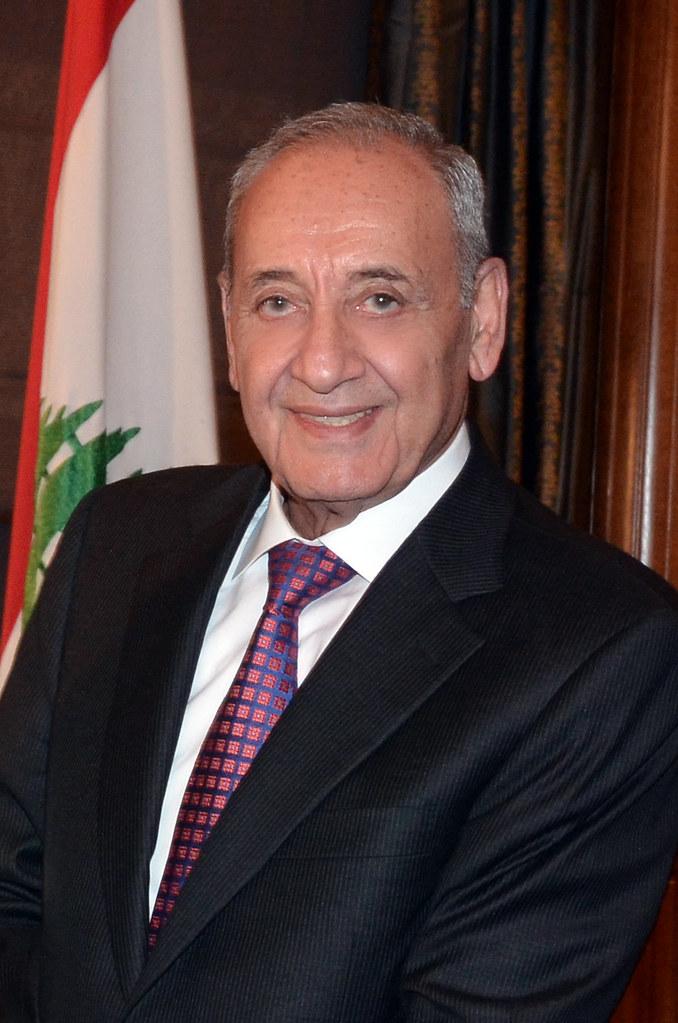 President De Parlement Mr Nabih Berri Lebanese