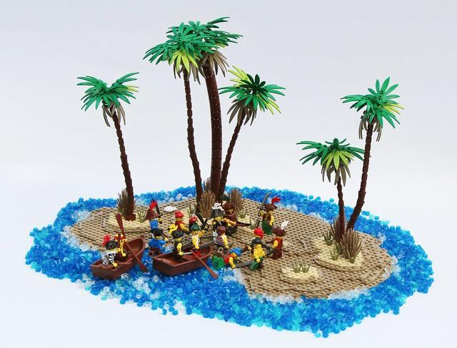 Moc petite le de pirates chez yannoch - Ile pirate lego ...