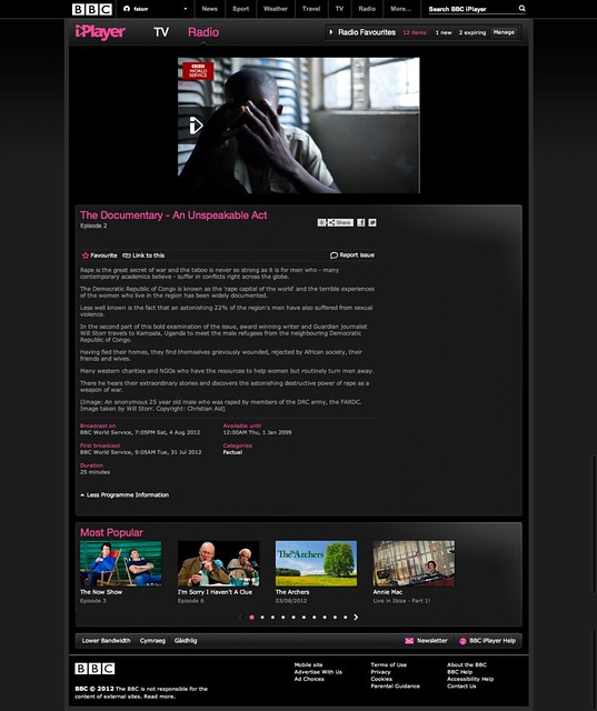 BBC iPlayer The Documentary An Unspeakable Act Episode 2 ...