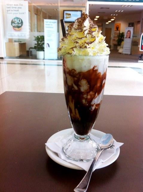 Iced mocha at Coffee Club