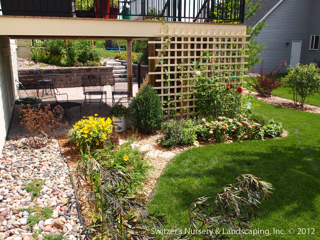 Paver Patio under Deck with Retaining Wall & Steps - Minne ... on Under Deck Patio Ideas id=30680