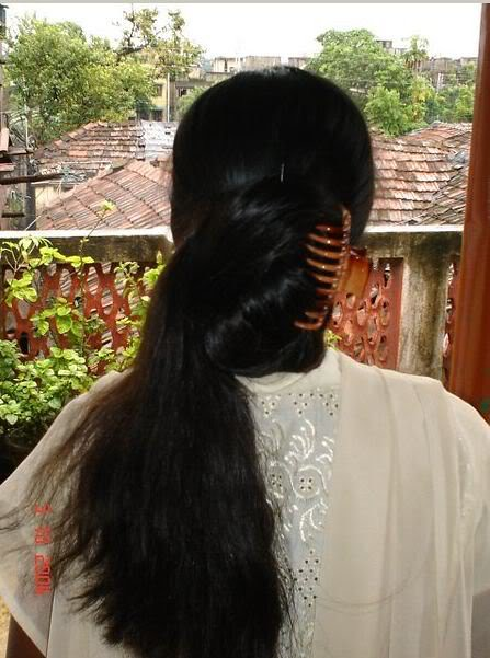 Malayali Long Hair Girl Peeping Out Of Her Cottage House