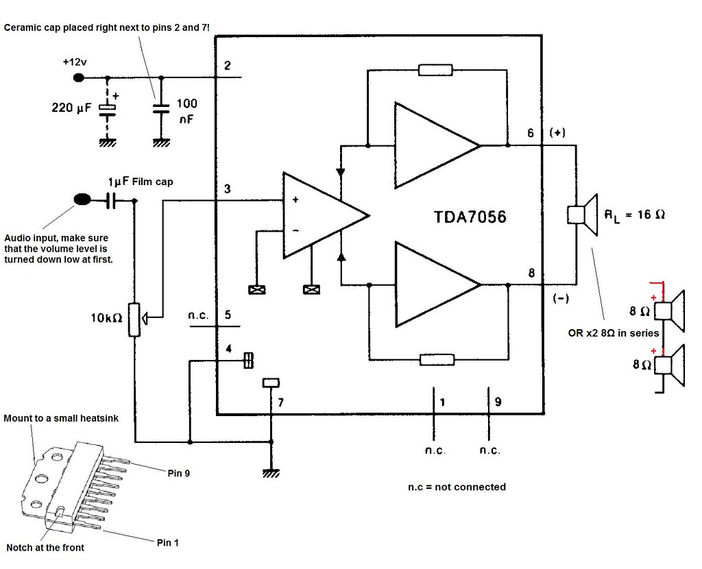 Tda Audio Amplifier Circuit