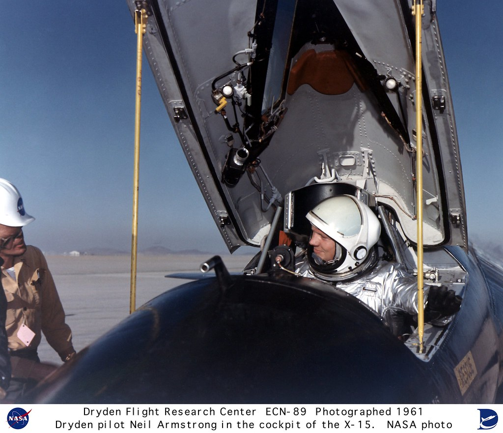 Pilot Neil Armstrong In The X 15 1 Cockpit