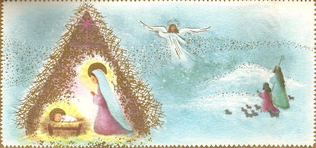 Vintage Nativity Christmas Card Nativity Jakki Flickr