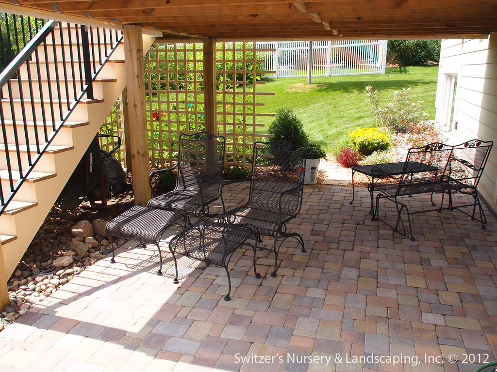 Paver Patio under Deck with Retaining Wall & Steps - Minne ... on Under Deck Patio Ideas id=69411