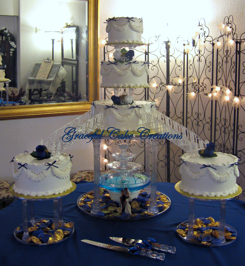 Traditional Fountain Wedding Cake This Wedding Was At A