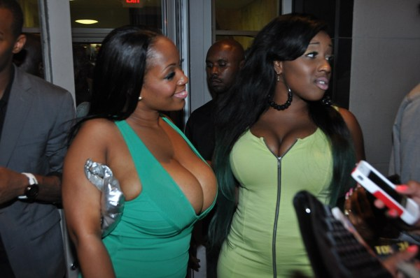 Busty Vanessa Bee with busty friend at the 2012 Urban Mode ...