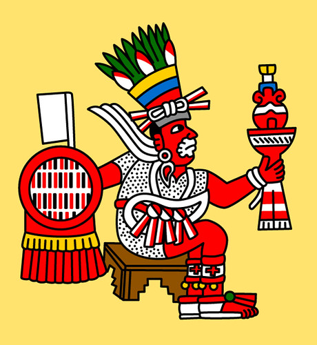 Macuilxochitl Aztec God Of Games And Also In Charge Of