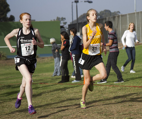 Anna Rohrer wins the women's high school cross country cha ...