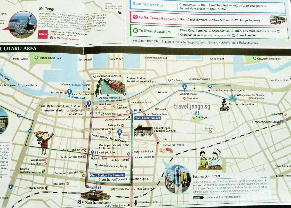 Otaru Map - travel.joogo.sg
