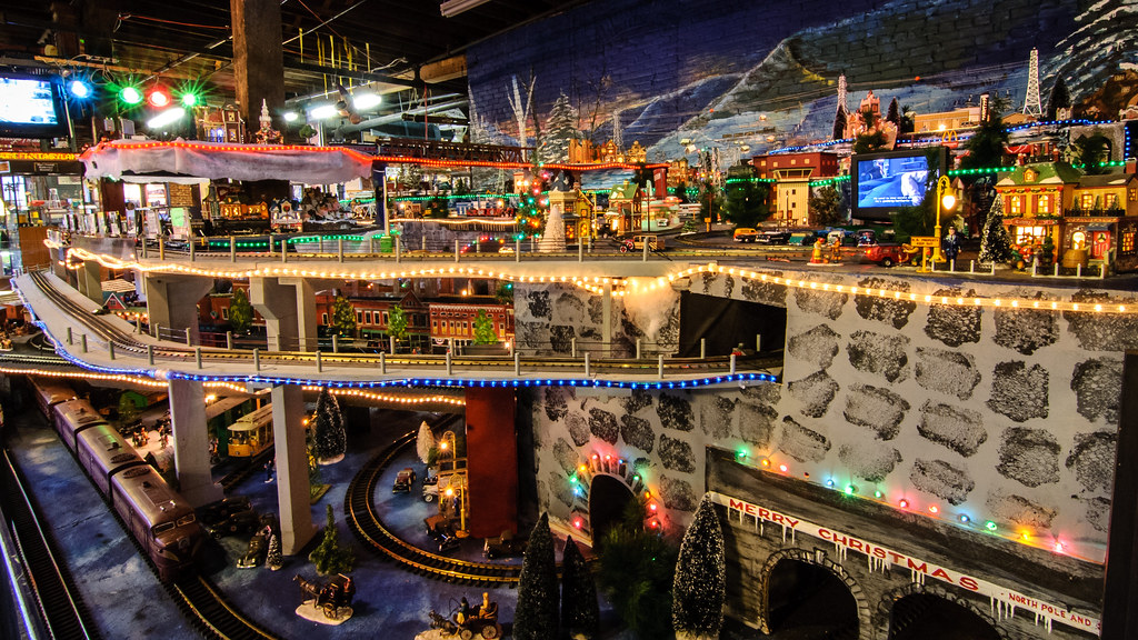 Christmas Fantasyland Model Train Layout Created By The
