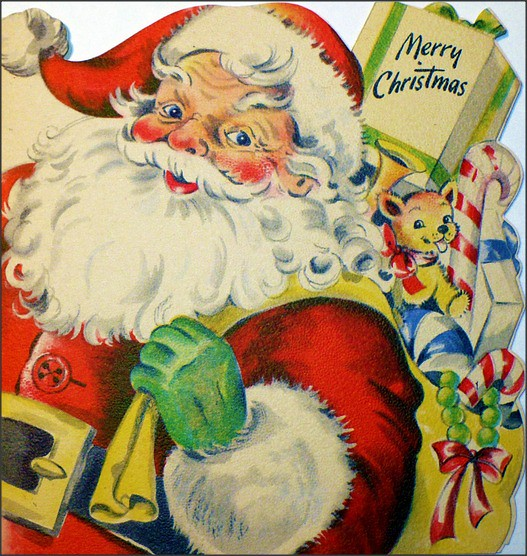 1940s Santa And Gifts Christmas Card 1950sUnlimited Flickr