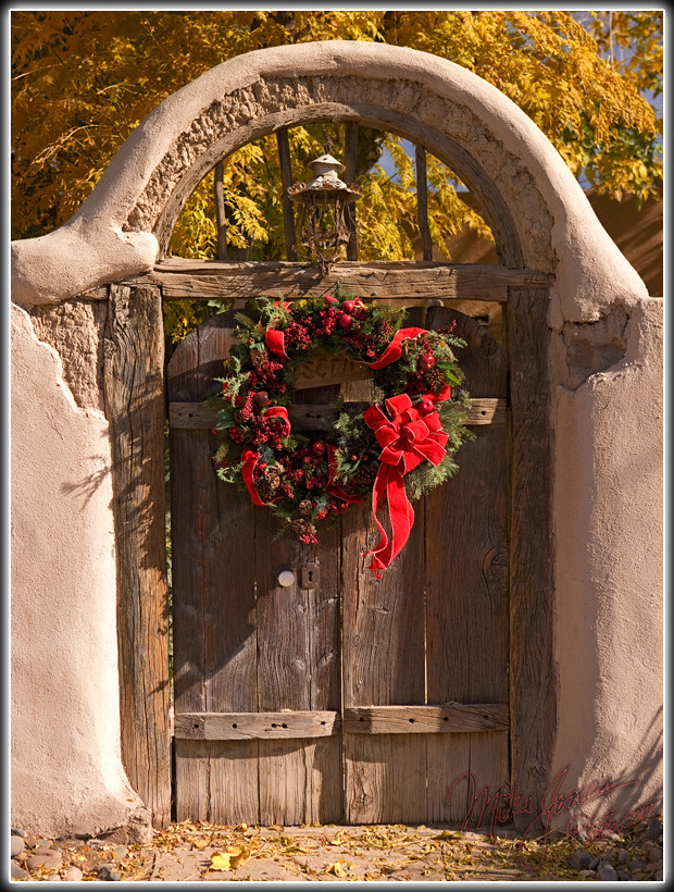 A Southwest Christmas I Spotted This Old Gate In