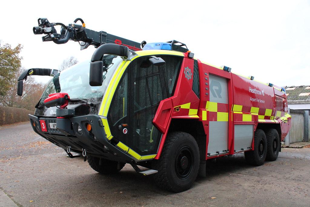 BAA Heathrow Airport Fire Service Rosenbauer Panther