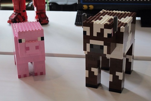 Minecraft Animals A Piggie And A Cow So Adorable Like