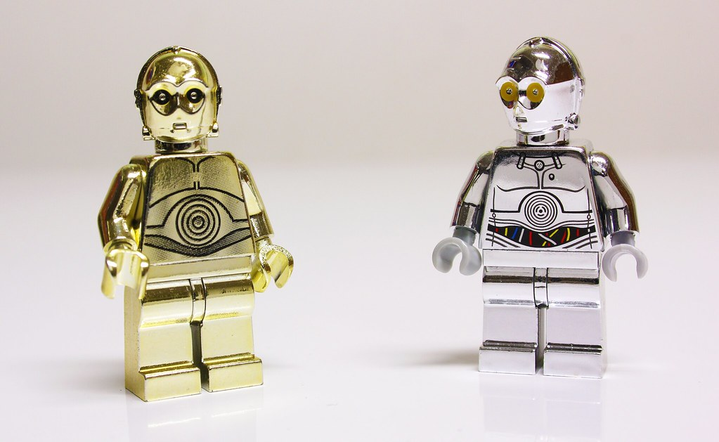 LEGO Chrome Gold C 3PO   TC 14 Exclusive Minifigures   Flickr     LEGO Chrome Gold C 3PO   TC 14 Exclusive Minifigures   by Bricks Brought