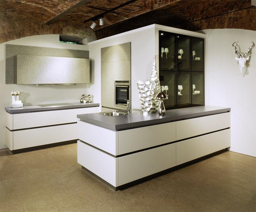 European White Handles Kitchen Cabinets From Bauformat Flickr
