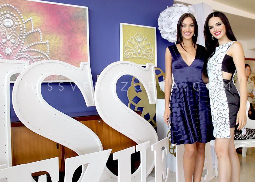Candidatas del Miss Venezuela en uno de los ensayos.